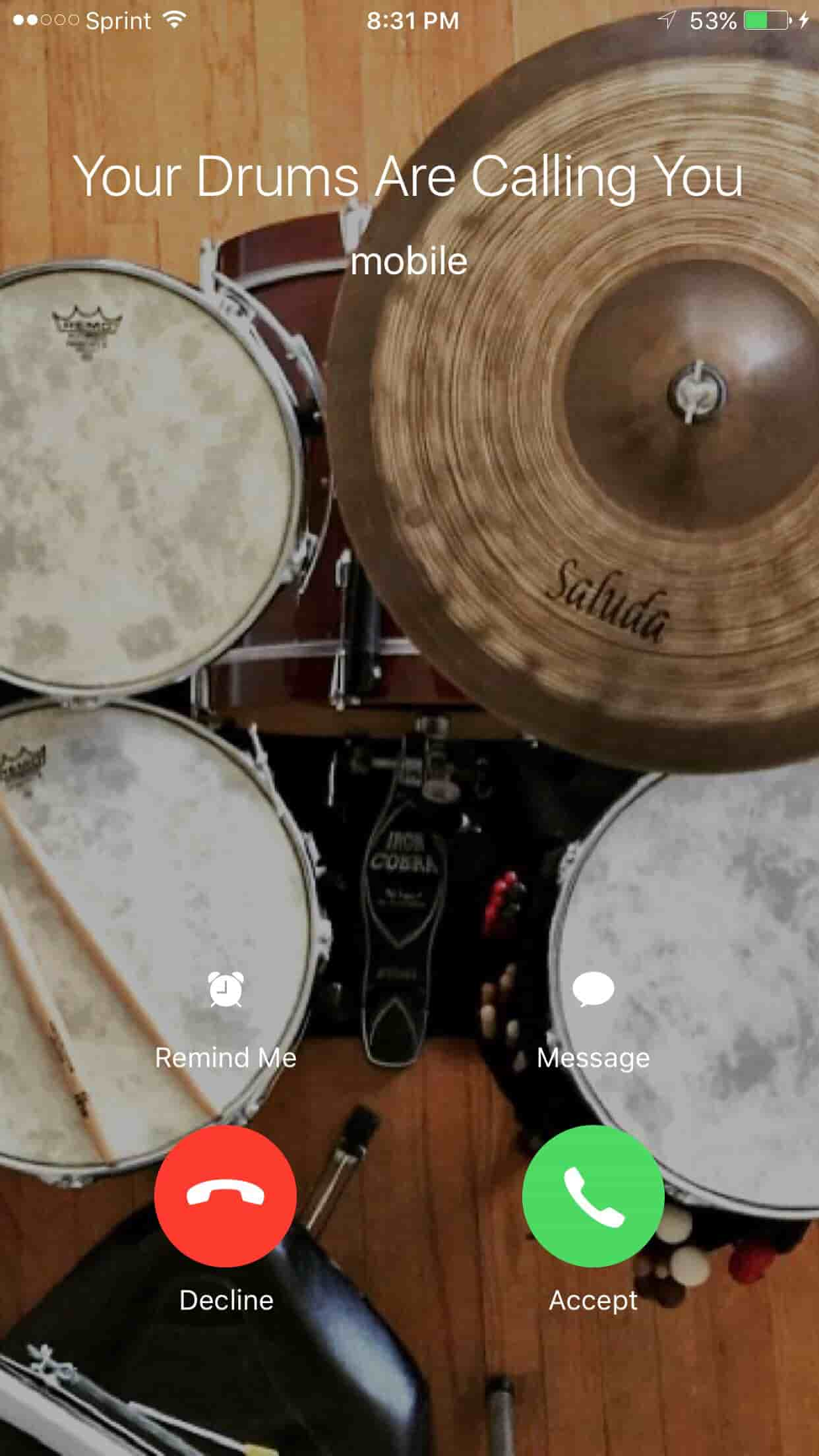is it hard to learn drums iphone screen