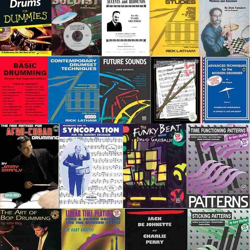 Drum sheet music books