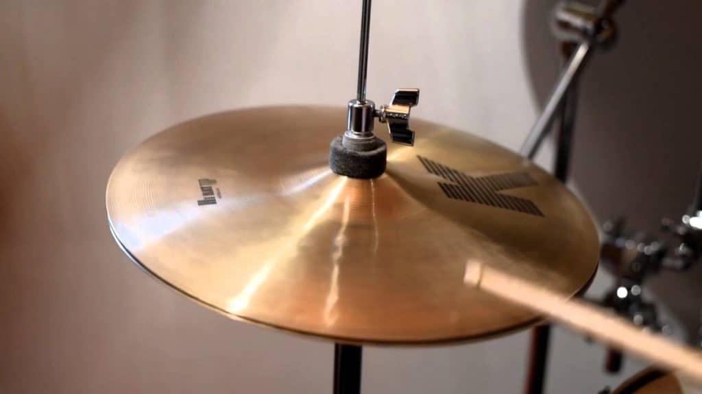 Hi-hat cymbals part of drum kit