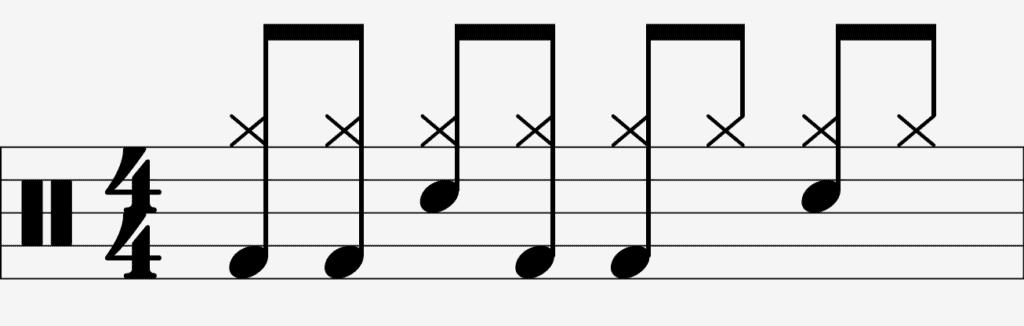 Quaver Bass Drum Groove