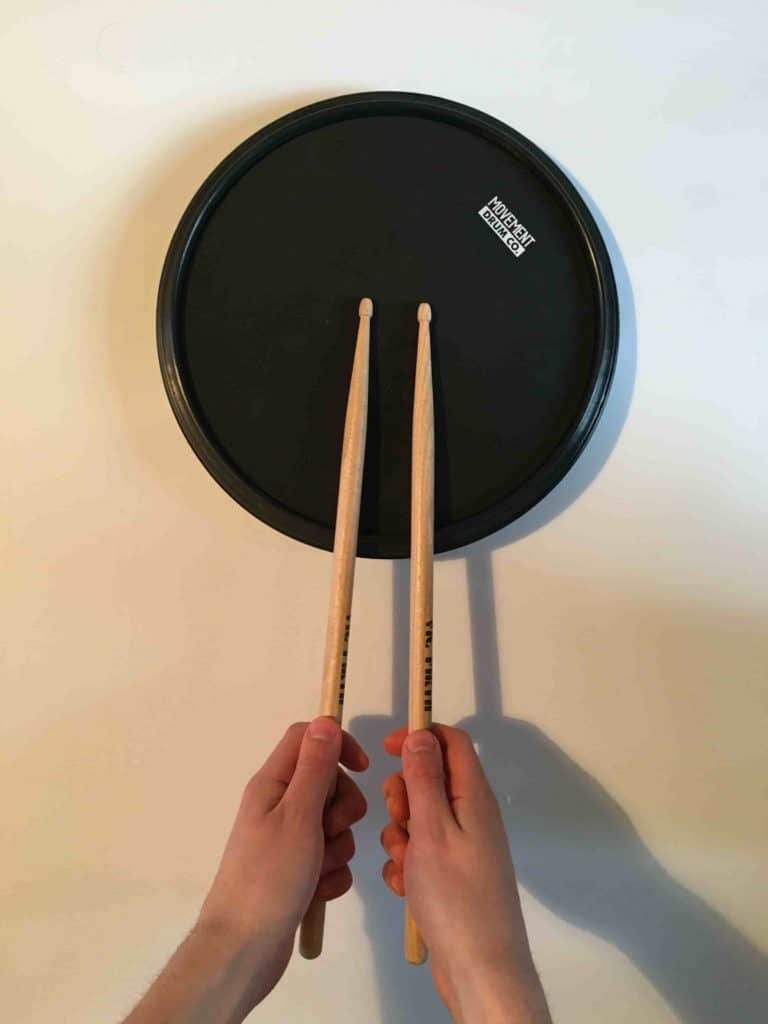 French grip - How to learn drums for beginners