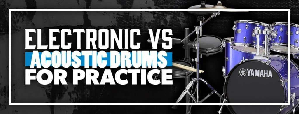How loud are electronic drums compared to acoustic drums
